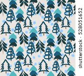 seamless pattern with christmas ... | Shutterstock .eps vector #528051652