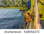 man working overboard. abseiler ... | Shutterstock . vector #528056272