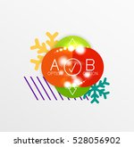 christmas sale stickers  circle ... | Shutterstock .eps vector #528056902