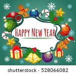 happy new year  holiday ... | Shutterstock .eps vector #528066082