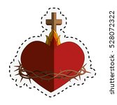 sacred heart of jesus | Shutterstock .eps vector #528072322