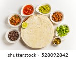 tacos and tortilla mexican food | Shutterstock . vector #528092842