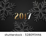 happy new year 2017. christmas... | Shutterstock .eps vector #528095446