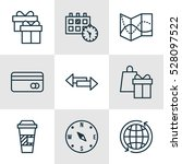 set of 9 travel icons. can be... | Shutterstock .eps vector #528097522