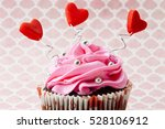 valentine sweet love cupcake   Shutterstock . vector #528106912