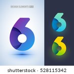 set of abstract number 6... | Shutterstock .eps vector #528115342