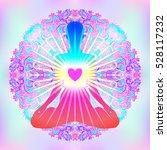 heart chakra concept. inner... | Shutterstock .eps vector #528117232