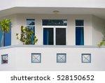 bay balcony in beige building... | Shutterstock . vector #528150652