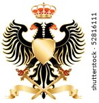 double headed eagle with crown... | Shutterstock .eps vector #52816111