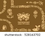 letter from the ancient tribes. ... | Shutterstock .eps vector #528163702