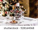 christmas dinner | Shutterstock . vector #528164068