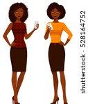 african american women in smart ... | Shutterstock .eps vector #528164752