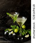 Martini Or Mint Liqueur With...
