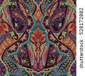 india seamless paisley pattern  ... | Shutterstock .eps vector #528172882
