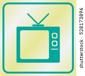vector icon of tv screen