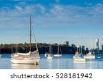 Boat On The Swan River Side In...