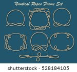 set of rope loop and frames.... | Shutterstock . vector #528184105