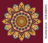 circle mandala pattern. vintage ... | Shutterstock . vector #528188092