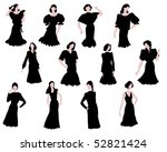silhouettes of the beautiful... | Shutterstock .eps vector #52821424