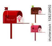 mailbox for valentines day.... | Shutterstock .eps vector #528218902
