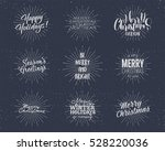 set of christmas   new year... | Shutterstock .eps vector #528220036