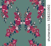 seamless pattern with  flowers... | Shutterstock .eps vector #528221002