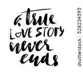 a true love story never ends.... | Shutterstock .eps vector #528234595