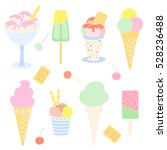 vector set of color hand drawn... | Shutterstock .eps vector #528236488