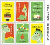 set of 6 cute creative cards... | Shutterstock .eps vector #528237466