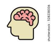 brain logo silhouette view... | Shutterstock .eps vector #528238336