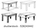 sketch set isolated furniture.... | Shutterstock .eps vector #528243442