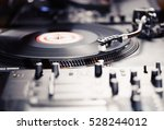 turntable dj vinyl record... | Shutterstock . vector #528244012