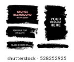 set of black paint  ink brush... | Shutterstock .eps vector #528252925