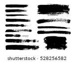 set of black paint  ink brush...   Shutterstock .eps vector #528256582