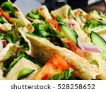 catering sandwich lunch | Shutterstock . vector #528258652