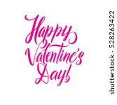 happy valentines day pink... | Shutterstock . vector #528263422