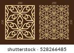 laser cutting set. woodcut... | Shutterstock .eps vector #528266485
