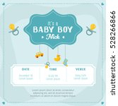 baby boy shower card.... | Shutterstock .eps vector #528266866