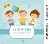 it's a boy card. invitation... | Shutterstock .eps vector #528266875