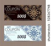 gift voucher in luxury style.... | Shutterstock .eps vector #528267748