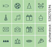 set of 16 new year icons. can...