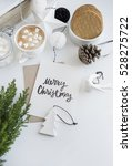 christmas composition with... | Shutterstock . vector #528275722