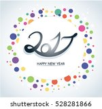 colorful happy new year 2017...   Shutterstock .eps vector #528281866