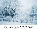 A Blue Toned Winter Scene Of A...