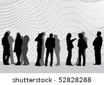 vector drawing of people on... | Shutterstock .eps vector #52828288