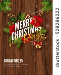 merry christmas party... | Shutterstock .eps vector #528286222
