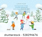 children playing outside on the ... | Shutterstock .eps vector #528294676