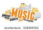 music. word cloud  type font ... | Shutterstock .eps vector #528309202