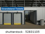 ticket booth box office for event grandstand events - stock photo
