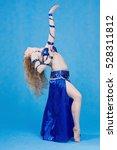beautiful belly dancer in a... | Shutterstock . vector #528311812